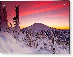 Mt. Bachelor Winter Twilight Acrylic Print by Kevin Desrosiers