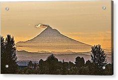 Mt Hood Sunrise Acrylic Print by Larry Darnell