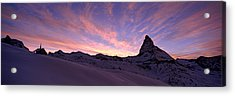 Mt Matterhorn At Sunset, Riffelberg Acrylic Print by Panoramic Images