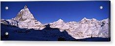 Mt Matterhorn From Riffelberg, Zermatt Acrylic Print by Panoramic Images