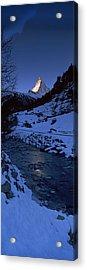 Mt Matterhorn From Zermatt, Valais Acrylic Print by Panoramic Images