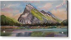 Mt. Rundle Acrylic Print by Mohamed Hirji