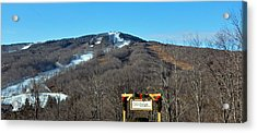 Mt Snow Vermont Acrylic Print by Mary Anne Williams