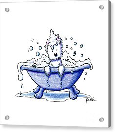 Muggles Bubble Bath Acrylic Print by Kim Niles