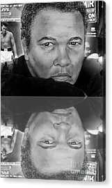 Muhammad Ali Formerly Known As Cassius Clay Version II With Reflection Acrylic Print by Jim Fitzpatrick