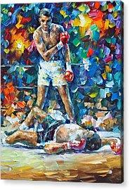 Muhammad Ali Acrylic Print by Leonid Afremov