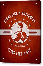 Muhammad Ali - Red Acrylic Print by Aged Pixel