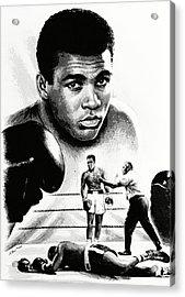 Muhammad Ali The Greatest Acrylic Print by Andrew Read