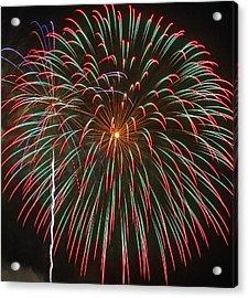 4th Of July Fireworks 16 Acrylic Print by Howard Tenke