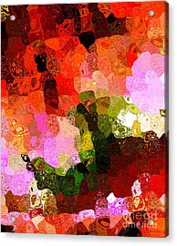 Multi Color Abstract Art Of Spots Acrylic Print by Mario Perez