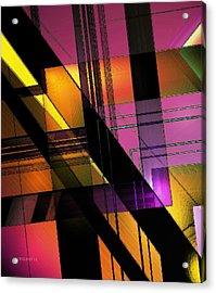 Multicolored Combination Art Acrylic Print by Mario Perez