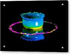 Multicoloured Bowl Acrylic Print by Jaroslaw Blaminsky