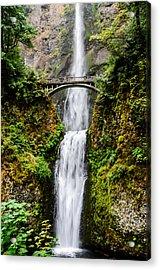 Multnomah Falls Oregon Waterfalls Acrylic Print by Puget  Exposure