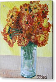 Mums Acrylic Print by Melissa Torres