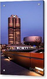 munich - BMW office - vintage Acrylic Print by Hannes Cmarits