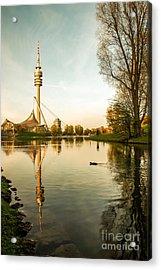 Munich - Olympiapark - Vintage Acrylic Print by Hannes Cmarits