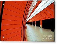 Munich Subway II Acrylic Print by Hannes Cmarits