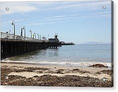 Municipal Wharf At The Santa Cruz Beach Boardwalk California 5d23766 Acrylic Print by Wingsdomain Art and Photography