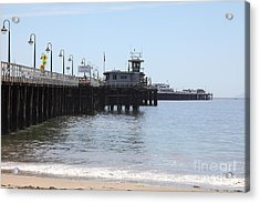 Municipal Wharf At The Santa Cruz Beach Boardwalk California 5d23767 Acrylic Print by Wingsdomain Art and Photography