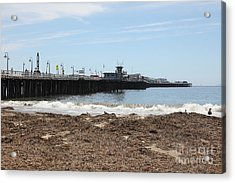 Municipal Wharf At The Santa Cruz Beach Boardwalk California 5d23769 Acrylic Print by Wingsdomain Art and Photography