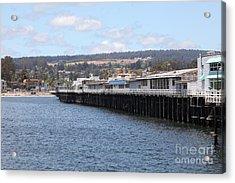 Municipal Wharf At The Santa Cruz Beach Boardwalk California 5d23815 Acrylic Print by Wingsdomain Art and Photography