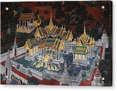 Mural - Grand Palace In Bangkok Thailand - 01131 Acrylic Print by DC Photographer