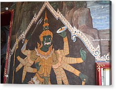 Mural - Grand Palace In Bangkok Thailand - 01134 Acrylic Print by DC Photographer