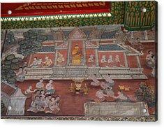 Mural - Wat Pho - Bangkok Thailand - 01133 Acrylic Print by DC Photographer