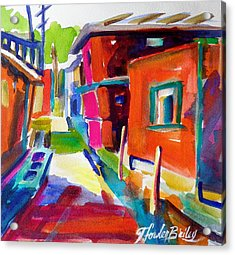 Murano Back Street Italy Acrylic Print by Therese Fowler-Bailey