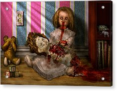 Murder - Appetite For Blood Acrylic Print by Mike Savad