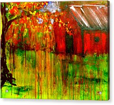 Murder In The Red Barn Acrylic Print by Pete Maier
