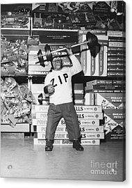 Muscle Man Acrylic Print by Dick Hanley