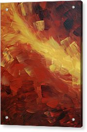 Muse In The Fire 1 Acrylic Print by Sharon Cummings