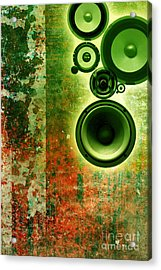 Music Background Acrylic Print by Christophe ROLLAND