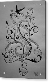 Music Equals Life Acrylic Print by Christopher Kyle