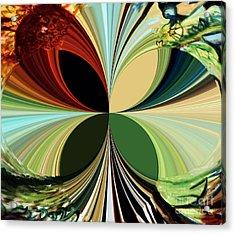 Music In Bird Of Tree Polar Coordinates Acrylic Print by Genevieve Esson