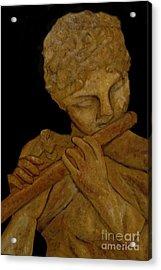 Music In Stone Acrylic Print by Nancy Bradley