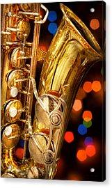 Music - Sax - Very Saxxy Acrylic Print by Mike Savad
