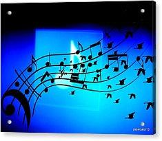 Music To Fly Acrylic Print by Paulo Zerbato
