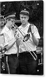 Music - Trombone - A Helping Hand  Acrylic Print by Mike Savad
