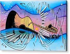 Musica Acrylic Print by Angel Ortiz