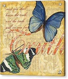 Musical Butterflies 3 Acrylic Print by Debbie DeWitt