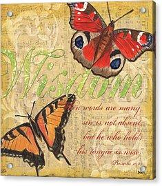 Musical Butterflies 4 Acrylic Print by Debbie DeWitt