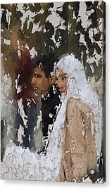 Muslim Couple Acrylic Print by Stefan Kuhn