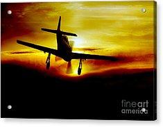 Mustang Recovery Acrylic Print by J Biggadike