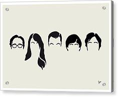 My-big-bang-hair-theory Acrylic Print by Chungkong Art