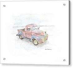 My Favorite Truck Acrylic Print by Joan Sharron