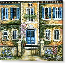 My French Villa Acrylic Print by Marilyn Dunlap