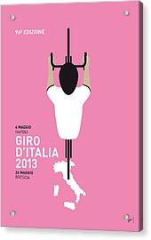 My Giro D'italia Minimal Poster Acrylic Print by Chungkong Art