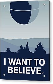 My I Want To Believe Minimal Poster-deathstar Acrylic Print by Chungkong Art